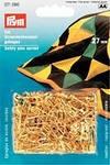 Prym 071390 Английские булавки со спиралью, латунь № 1 золотистый цвет, изогнутые