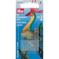 Prym 125542 Тонкие иглы для вышивки  №3-9, 18 шт
