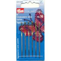 Prym 125549 Иглы для вышивки со скругленным острием №16 (сталь), 6 шт