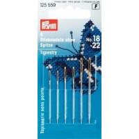 Prym 125559 Иглы для вышивки со скругленным острием №18-22 (сталь), 6 шт