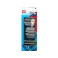 Prym 128400 Набор игл с нитевдевателем для шитья, штопки, вышивания (сталь)
