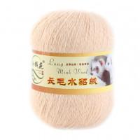 Mink wool 46 Норка длинноворсовая 46 кремовый