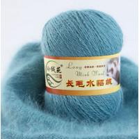 Mink wool 50 Норка длинноворсовая 50 бирюза темная