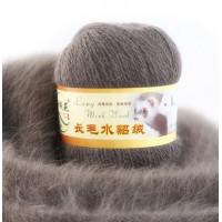 Mink wool 54 Норка длинноворсовая 54 какао