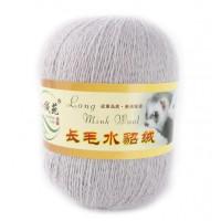 Mink wool 56 Норка длинноворсовая 56 стальной