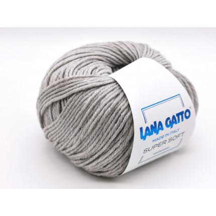 Пряжа для вязания Lana Gatto Super Soft 20439 Grigio Perla/Alassio (Лана Гатто Супер Софт)
