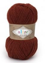 Пряжа для вязания Alize Alpaca Royal (Ализе Альпака Роял) Цвет 588 терракот