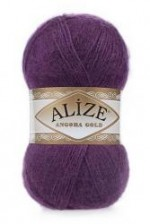 Пряжа Alize Angora Gold (Ализе Ангора Голд) Цвет 111 фиолетовый