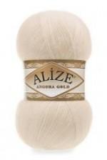 Пряжа Alize Angora Gold (Ализе Ангора Голд) Цвет 67 молочно бежевый