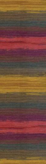 Пряжа для вязания Alize Angora Gold Batik (Ализе Ангора Голд Батик) Цвет 3368