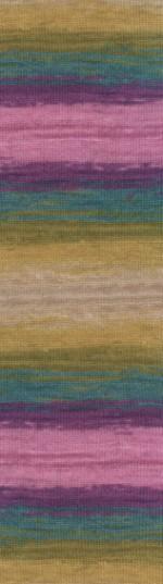 Пряжа для вязания Alize Angora Gold Batik (Ализе Ангора Голд Батик) Цвет 4341