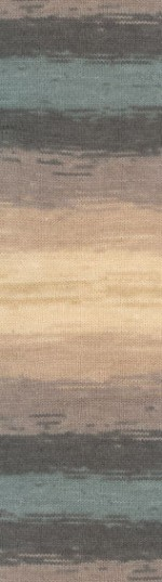 Пряжа для вязания Alize Angora Gold Batik (Ализе Ангора Голд Батик) Цвет 4727