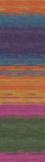 Пряжа для вязания Alize Angora Gold Batik Simli Цвет 1560
