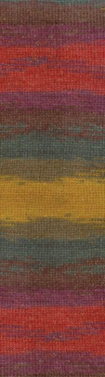 Пряжа для вязания Alize Angora Gold Batik Simli (Ализе Ангора Голд Батик Симли) Цвет 3368