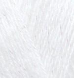 Пряжа для вязания Alize Angora Gold Simli (Ализе Ангора Голд Симли) Цвет 55 белый