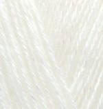 Пряжа для вязания Alize Angora Gold Simli (Ализе Ангора Голд Симли) Цвет 62 кремовый