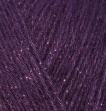 Alize Angora Gold Simli Цвет 111 фиолетовый