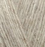 Пряжа для вязания Alize Angora Gold Simli (Ализе Ангора Голд Симли) Цвет 152 бежевый