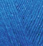 Пряжа для вязания Alize Angora Gold Simli (Ализе Ангора Голд Симли) Цвет 636 василек