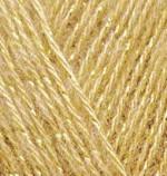 Пряжа для вязания Alize Angora Gold Simli (Ализе Ангора Голд Симли) Цвет 02 шафран