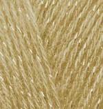 Пряжа для вязания Alize Angora Gold Simli (Ализе Ангора Голд Симли) Цвет 697 рыже коричневый