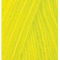 Пряжа для вязания Alize Angora Real 40 (Ализе Ангора Реал 40) Цвет 552 желтый неон
