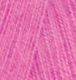 Alize Angora Real 40 Цвет 157 розовый неон