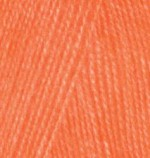 Alize Angora Real 40 Цвет 654 оранжевый неон