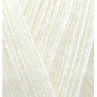 Пряжа для вязания Alize Angora Real 40 (Ализе Ангора Реал 40) Цвет 01 молочный