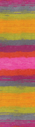 Пряжа для вязания Alize Angora Real 40 Batik (Ализе Ангора Реал 40 Батик) Цвет 4834