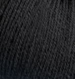 Пряжа Alize Baby Wool (Ализе Беби Вул) Цвет 60 черный