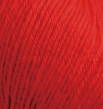 Пряжа Alize Baby Wool (Ализе Беби Вул) Цвет 56 красный