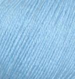 Пряжа Alize Baby Wool (Ализе Беби Вул) Цвет 350 голубой