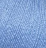 Пряжа Alize Baby Wool (Ализе Беби Вул) Цвет 40 голубой