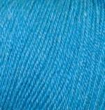 Пряжа Alize Baby Wool (Ализе Беби Вул) Цвет 245 бирюзовый