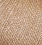 Пряжа Alize Baby Wool (Ализе Беби Вул) Цвет 75 бежевый