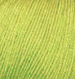 Пряжа Alize Baby Wool (Ализе Беби Вул) Цвет 612 зеленый неон