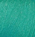 Пряжа Alize Baby Wool (Ализе Беби Вул) Цвет 610 изумруд