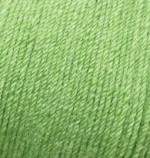 Пряжа Alize Baby Wool (Ализе Беби Вул) Цвет 255 ярко оливковый