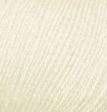 Пряжа Alize Baby Wool (Ализе Беби Вул) Цвет 01 молочный