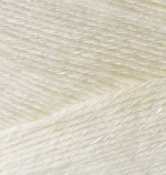 Пряжа для вязания Alize Bamboo Fine (Ализе Бамбу Файн) Цвет 01 молочный