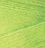 Пряжа для вязания Alize Bamboo Fine (Ализе Бамбу Файн) Цвет 612 зеленый неон