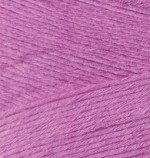 Пряжа для вязания Alize Bamboo Fine (Ализе Бамбу Файн) Цвет 46 фуксия