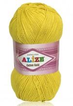 Пряжа для вязания Alize Cotton Gold (Ализе Коттон Голд) Цвет 110 желтый