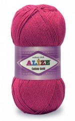 Пряжа для вязания Alize Cotton Gold (Ализе Коттон Голд) Цвет 149 фуксия