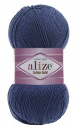 Пряжа для вязания Alize Cotton Gold (Ализе Коттон Голд) Цвет 279 темно синий