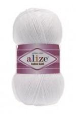 Пряжа для вязания Alize Cotton Gold (Ализе Коттон Голд) Цвет 55 белый