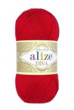 Пряжа для вязания Alize Diva (Ализе Дива) Цвет 106 красный