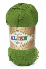 Пряжа для вязания Alize Diva (Ализе Дива) Цвет 210 зеленый