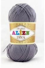 Пряжа для вязания Alize Diva (Ализе Дива) Цвет 348 серый